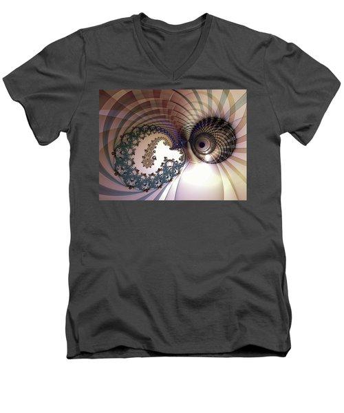 Incompatible Elements Men's V-Neck T-Shirt by Casey Kotas