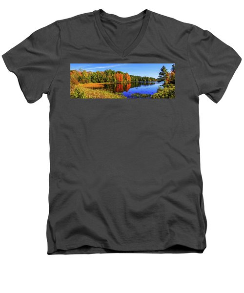 Men's V-Neck T-Shirt featuring the photograph Incredible Pano by Chad Dutson