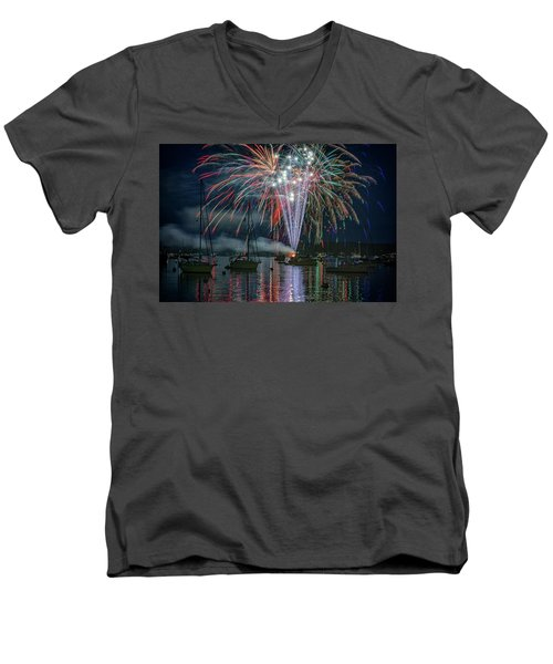 Men's V-Neck T-Shirt featuring the photograph Independence Day In Maine by Rick Berk