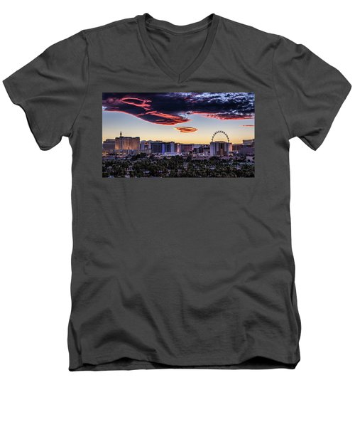 Men's V-Neck T-Shirt featuring the photograph Independence Day by Michael Rogers