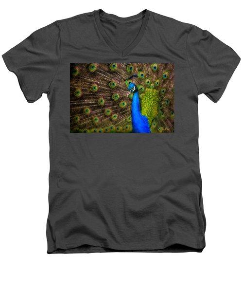 India Blue Men's V-Neck T-Shirt