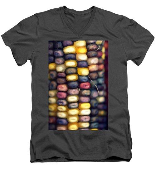 Indian Corn Men's V-Neck T-Shirt by Joseph Skompski