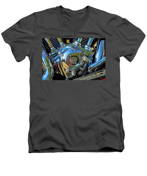 Indian Motor Men's V-Neck T-Shirt by Keith Hawley
