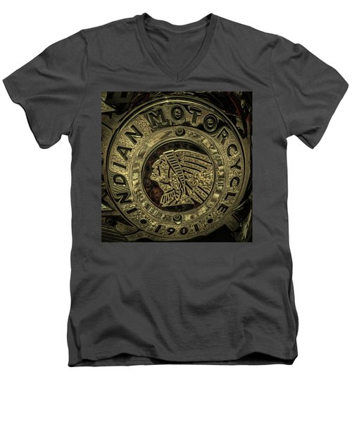 Indian Motorcycle Logo Men's V-Neck T-Shirt
