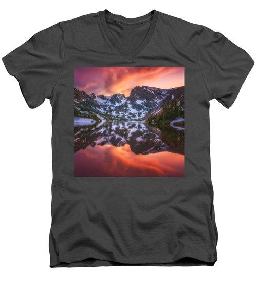Indian Peaks Reflection Men's V-Neck T-Shirt