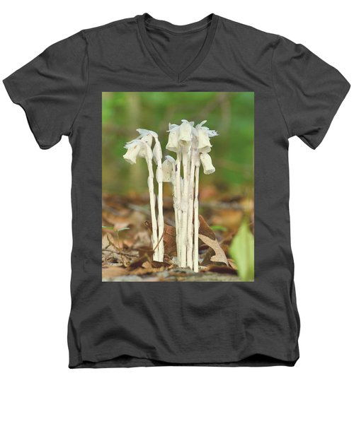Indian Pipes Men's V-Neck T-Shirt