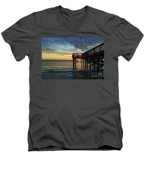 Indian Rocks Sunset Men's V-Neck T-Shirt by Paul Mashburn
