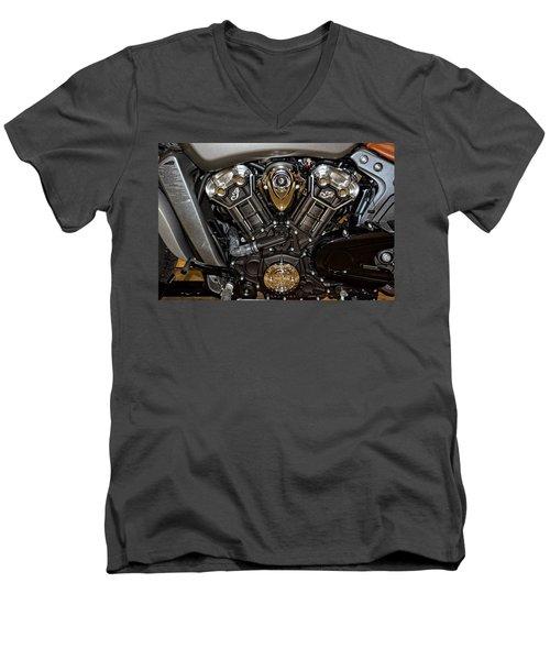 Indian Scout Engine Men's V-Neck T-Shirt