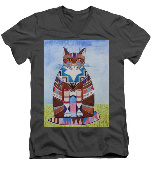 Indian Squirrel Cat Men's V-Neck T-Shirt