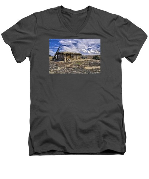 Men's V-Neck T-Shirt featuring the photograph Indian Trading Post Montrose Colorado by James Steele