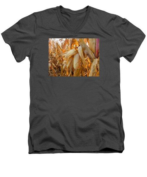 Indiana Corn 3 Men's V-Neck T-Shirt by Tina M Wenger