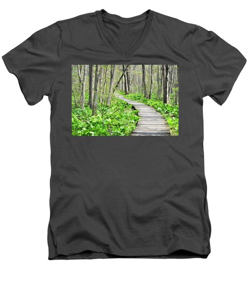Indiana Dunes Great Green Marsh Boardwalk Men's V-Neck T-Shirt