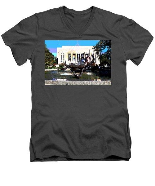 Indiana University Men's V-Neck T-Shirt