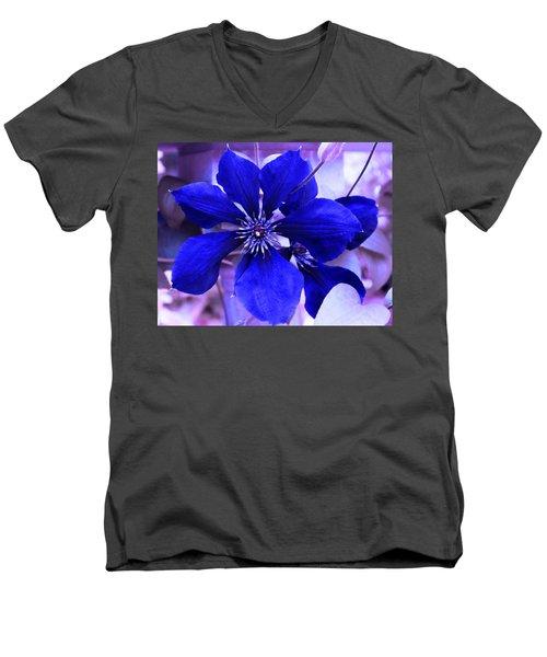 Indigo Flower Men's V-Neck T-Shirt