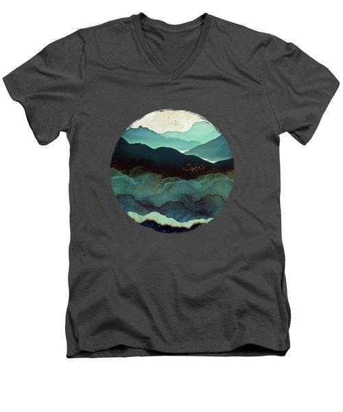 Indigo Mountains Men's V-Neck T-Shirt