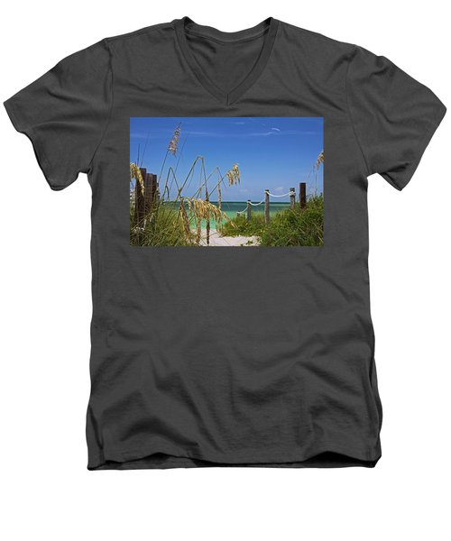 Men's V-Neck T-Shirt featuring the photograph Indulging In Memories by Michiale Schneider