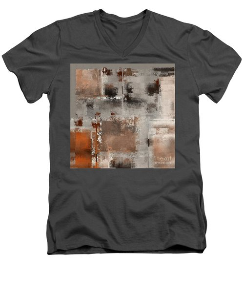 Industrial Abstract - 01t02 Men's V-Neck T-Shirt by Variance Collections