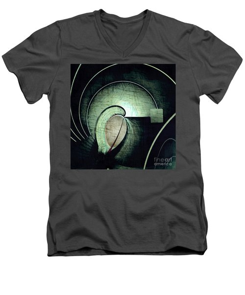 Industrial Arch Grey Men's V-Neck T-Shirt