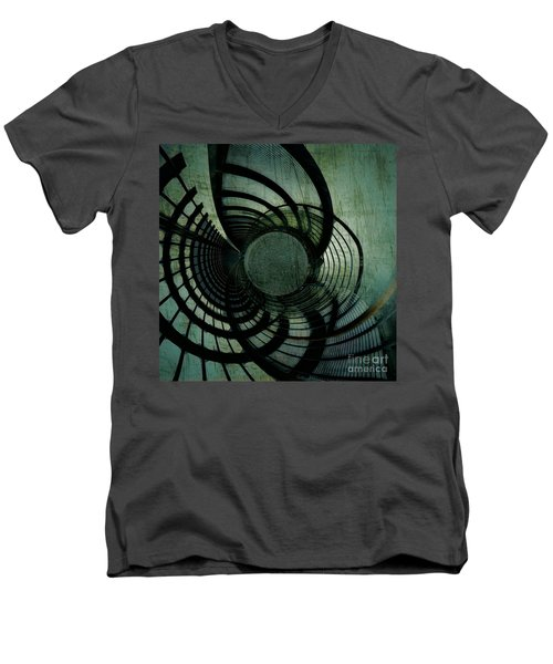 Industrial Overpass Grey Men's V-Neck T-Shirt