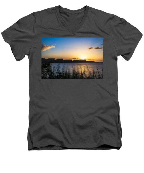 Industrial Sunset Men's V-Neck T-Shirt