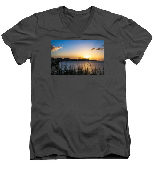 Industrial Sunset Men's V-Neck T-Shirt