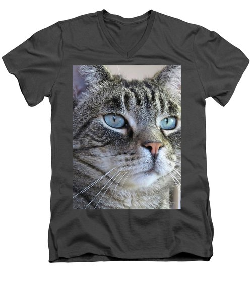 Indy Sq. Men's V-Neck T-Shirt by Vivian Krug Cotton
