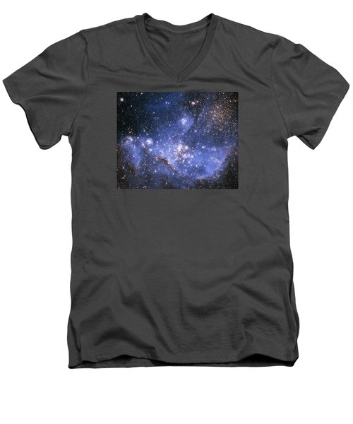 Infant Stars In The Small Magellanic Cloud  Men's V-Neck T-Shirt