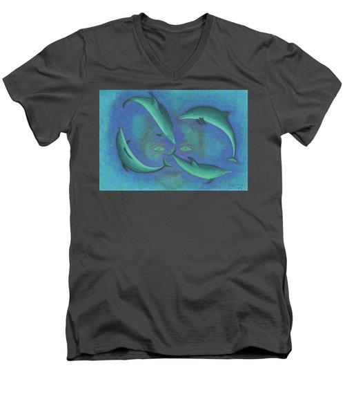 Infinity 4 Third Eye Men's V-Neck T-Shirt