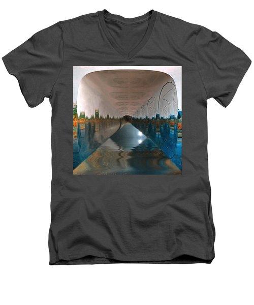 Infinity Home Men's V-Neck T-Shirt by Mario Carini