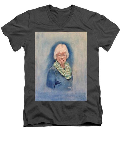 Infinity Scarf Men's V-Neck T-Shirt
