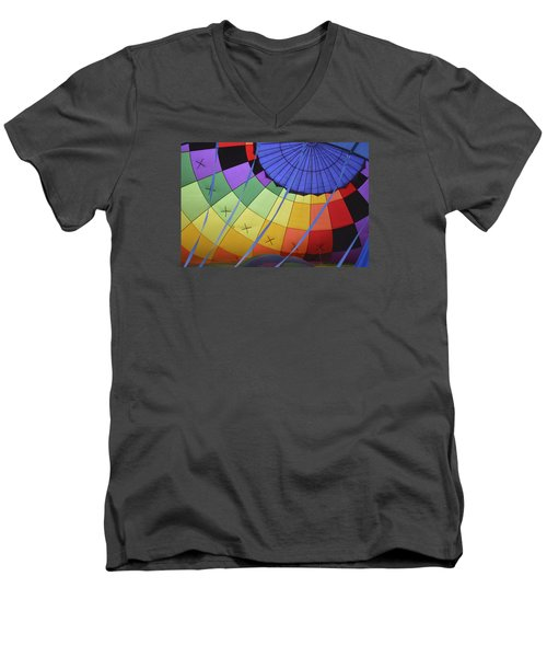 Men's V-Neck T-Shirt featuring the photograph Inflation Time by Linda Geiger