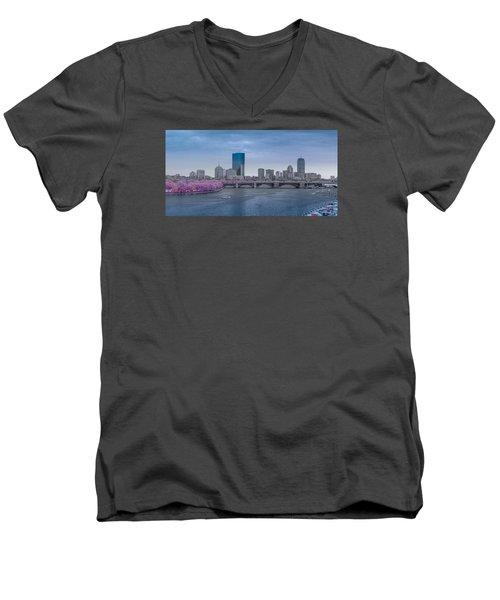 Infrared Boston Men's V-Neck T-Shirt