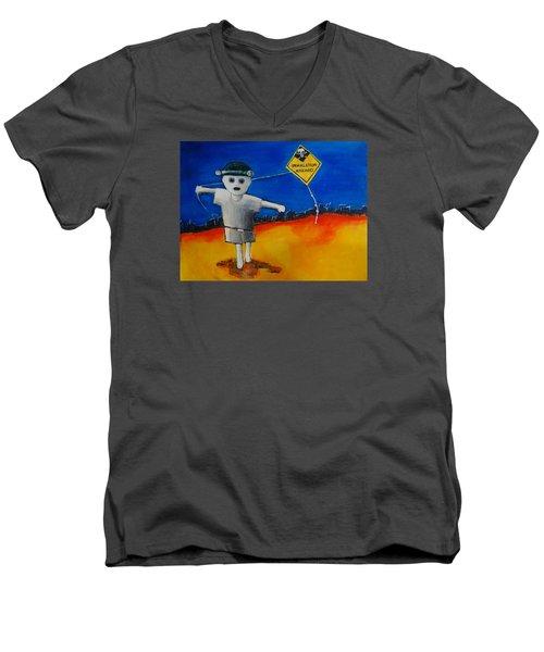 Inhalation Hazard Men's V-Neck T-Shirt by Jean Cormier