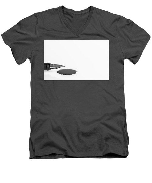 Ink Blot. Men's V-Neck T-Shirt