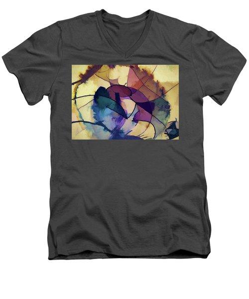 Ink Pie Men's V-Neck T-Shirt by Alex Galkin