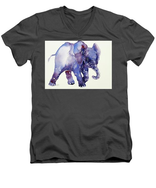 Inky Blue Elephant Men's V-Neck T-Shirt