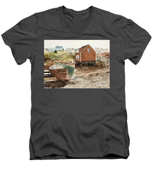 Inlet At Peggy's Cove Men's V-Neck T-Shirt