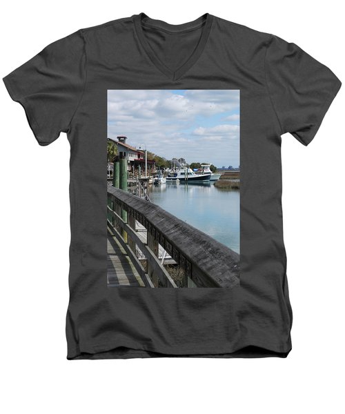 Inlet Fishing Fleet Men's V-Neck T-Shirt