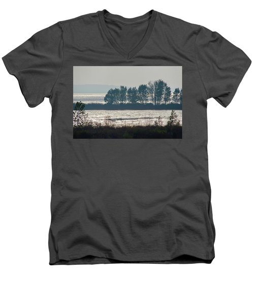 Inlet On Lake Michigan Men's V-Neck T-Shirt