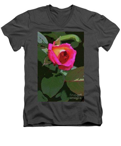 Inner Rose Men's V-Neck T-Shirt by Craig Wood