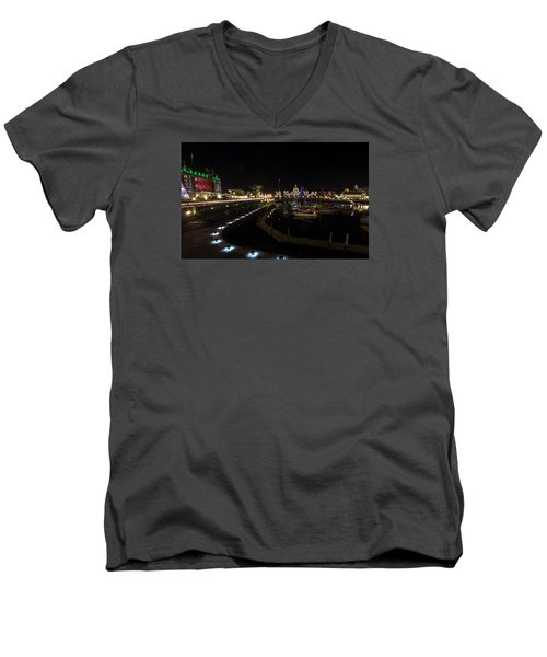 Inner Harbour Of Victoria Bc Men's V-Neck T-Shirt by Marilyn Wilson