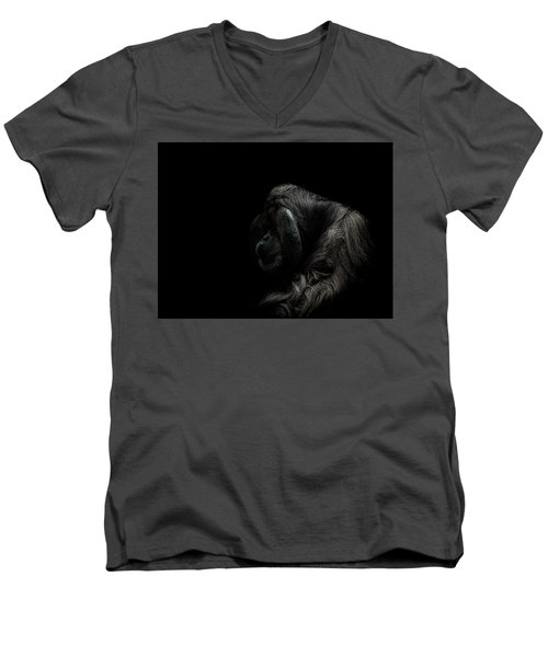 Insecurity Men's V-Neck T-Shirt by Paul Neville
