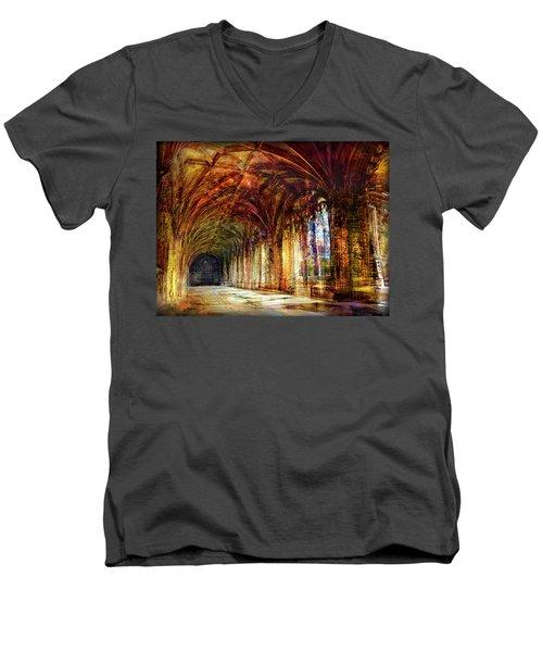 Men's V-Neck T-Shirt featuring the photograph Inside 2 - Transit by Alfredo Gonzalez
