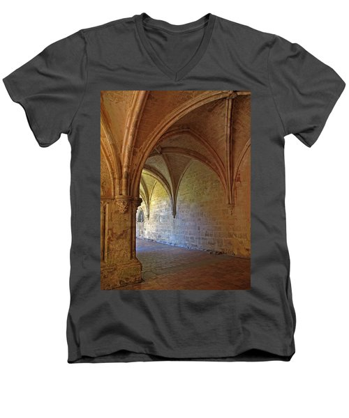 Inside A Monastery Dordogne France  Men's V-Neck T-Shirt