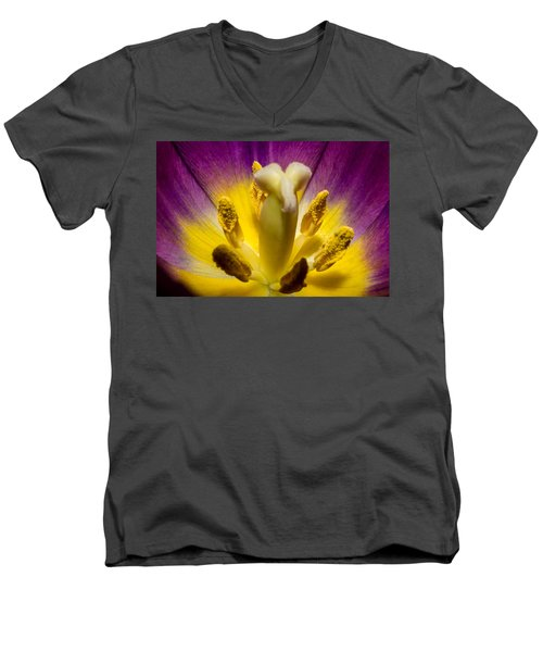 Inside A Purple Tulip Men's V-Neck T-Shirt