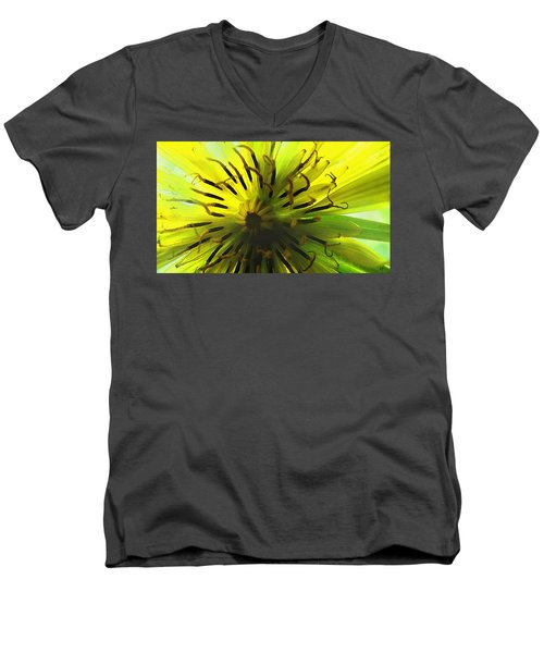 Inside A Yellow Goatsbeard  Men's V-Neck T-Shirt