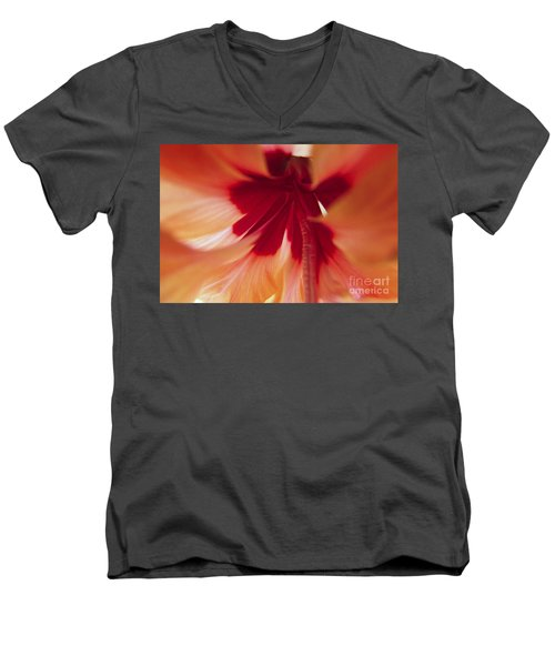 Inside Hibiscus Men's V-Neck T-Shirt