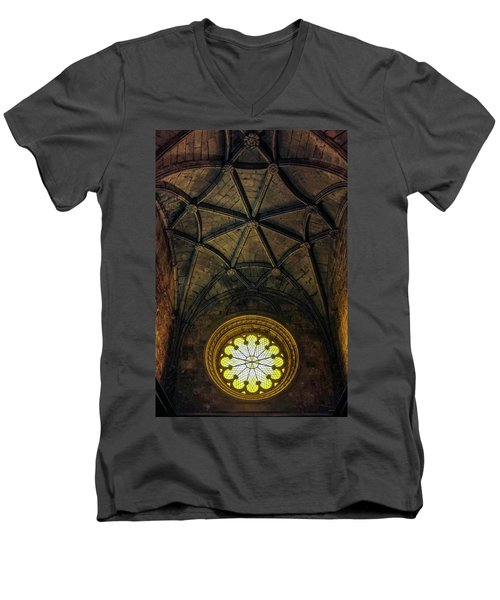 Men's V-Neck T-Shirt featuring the photograph Inside Jeronimos by Carlos Caetano