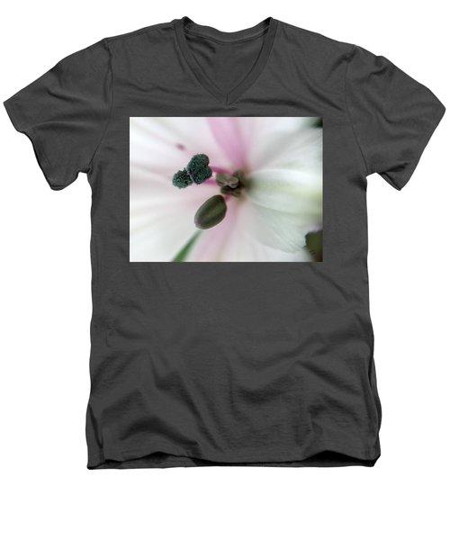 Inside Macro Tulip  Men's V-Neck T-Shirt