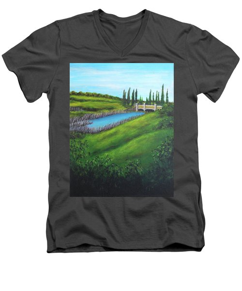 Inspiration In Mountain House Men's V-Neck T-Shirt
